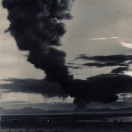 The cloud from an A-Bomb test at Yucca Flats, Nevada, 1957. Photo by Dave Cicero