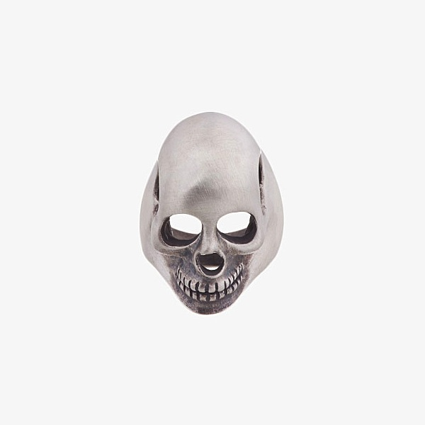 Saint Laurent - Silver Hollow Head Skull Ring