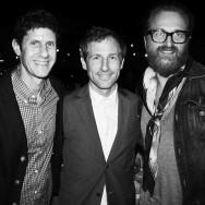 Mike D, Spike Jonze and Johan Lindeberg at the Spike Jonze dinner