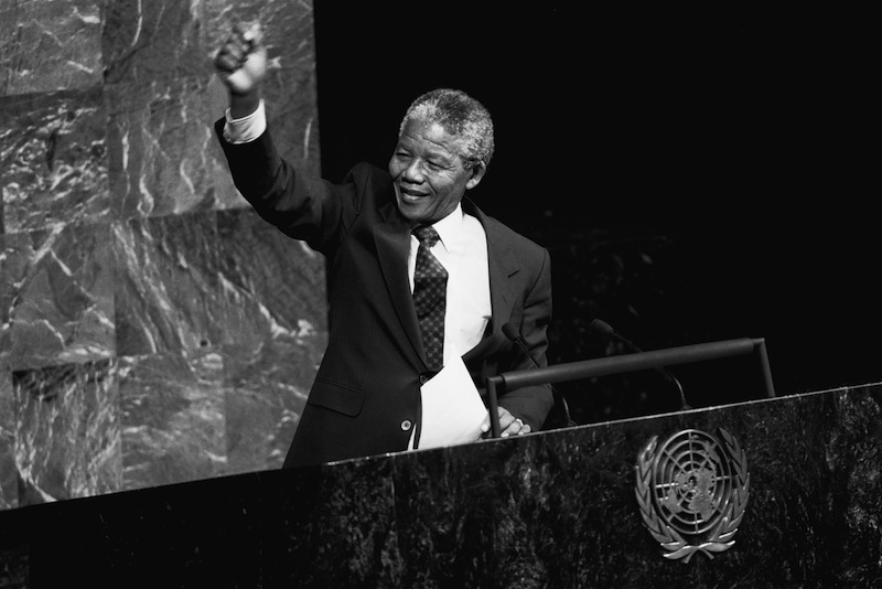 Nelson Mandela at The United Nations, New York City, 22 June 1990