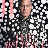 George Clooney and Yayoi Kusama, photos by Emma Summerton for W Magazine, dec 2013