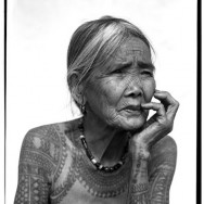 "Apo Whang-Od, a 93 year-old, the last ""Mambabatok"" hand-tape tattoo artist"