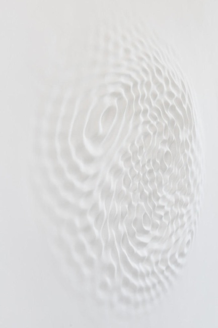 Loris Cecchini - Wallwave Vibration (Asynchronous Emotion), 2012 (Polyester resin, paint)