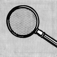 Roy Lichtenstein - Magnifying Glass, 1963