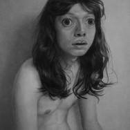 Korehiko Hino, Me With Black Hair, Crayon sur papier, 95x74cm, 2010