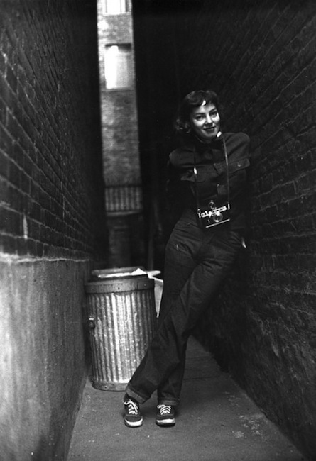 Photographer Lisa Larsen - in New York City in 1949