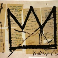 Jean-Michel Basquiat - Crown, 1983. Acrylic and ink on paper