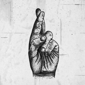 Alexandr Makovski - tattoo drawing (crossed fingers)
