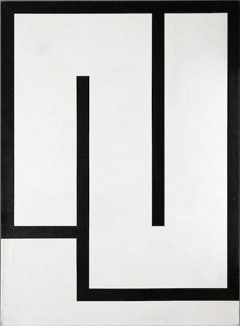 Julije Knifer - Tühda W2 (1986) - Acrylic on canvas