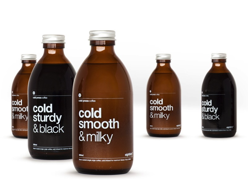 Butcher & Butcher Ltd. - Packaging for Eighthirty Coffee Roasters -iced coffees- 2013