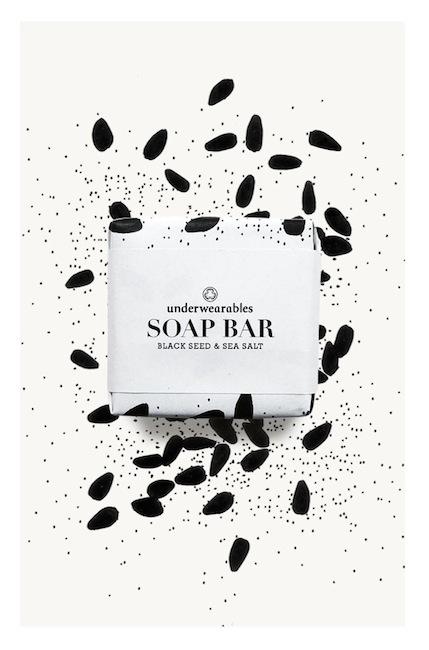 Underwearables - Soap Bar Blackseed & Seasalt