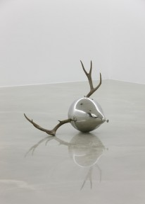Myeongbeom Kim - Untitled Stainless steel, Antler (90 x 60 x 57cm - 36 x 24 x 23in.)