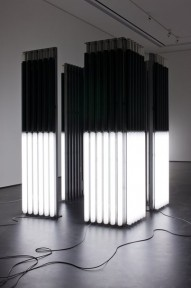 Andrei Molodkin - Cube (Acrylic tubes filled with crude oil and argon gas)