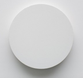 Julian Dashper - Untitled, 2006 (Two circular canvases screwed together - 12 x 12 x 1in)