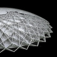 Model of the dome for the Louvre Abu Dabi by Ateliers Jean Nouvel