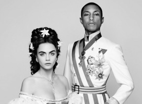 Cara Delevingne & Pharrell Williams in -Reincarnation- A Short Film Directed by Karl Lagerfeld for Chanel, November 2014