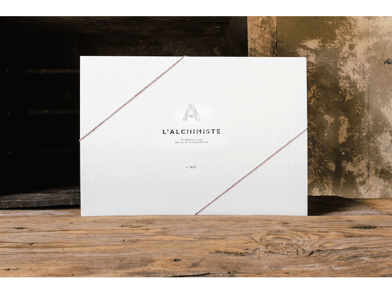 James Bertrand - Visual identity for L'Alchimiste, coffee roaster in Bordeaux, France