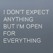 Jeppe Hein - I Don't Expect Anything But I'm Open For Everything (2014)