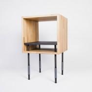 Jordi Lopez Aguilo (Kutarq studio) and Nicolas Perot - Collection Y (solid oak, steel), 2014