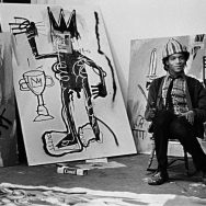 Pierre Houlès - Jean-Michel Basquiat in his studio