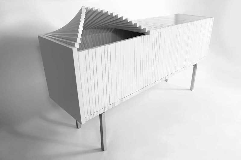 Sebastian Errazuriz - The Wave cabinet, 2014
