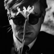 Dennis Hopper - Andy Warhol with Flower, Slight Smile, 1963