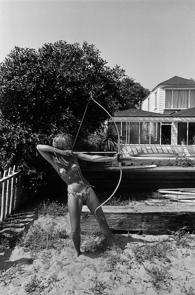 Dennis Hopper - Jane Fonda with bow and arrow, Malibu, 1965