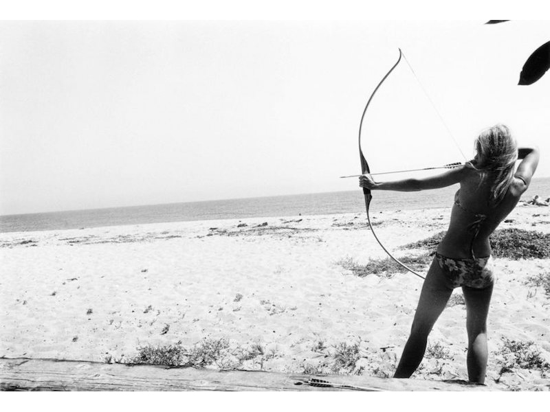 Dennis Hopper - Jane Fonda (with bow & arrow), Malibu, 1965