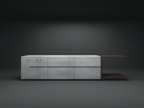 Steininger - Heart of Gold concrete kitchen designed by Martin Steininger and Michael Paar