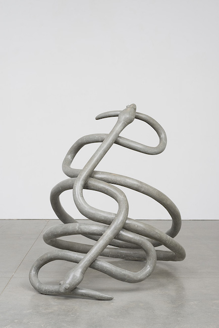 Kathleen Ryan - More is more snake ring, 2014 - polished concrete, rebar, 62x54x66in.