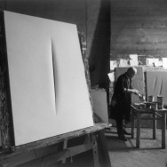 Ugo Mulas - Lucio Fontana in his studio, Milano, 1964