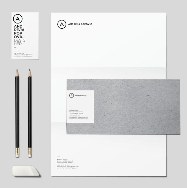 Andreja Popović - Personal Identity Design