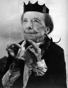 Louise Bourgeois by Bruce Weber for an Helmut Lang advertisement, 1997