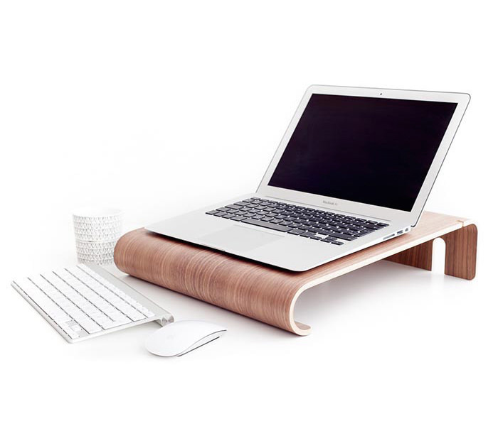 Nordic Appeal desk accessories in wood - MacBook desk stand