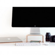 Nordic Appeal desk accessories in wood - MacBook stand