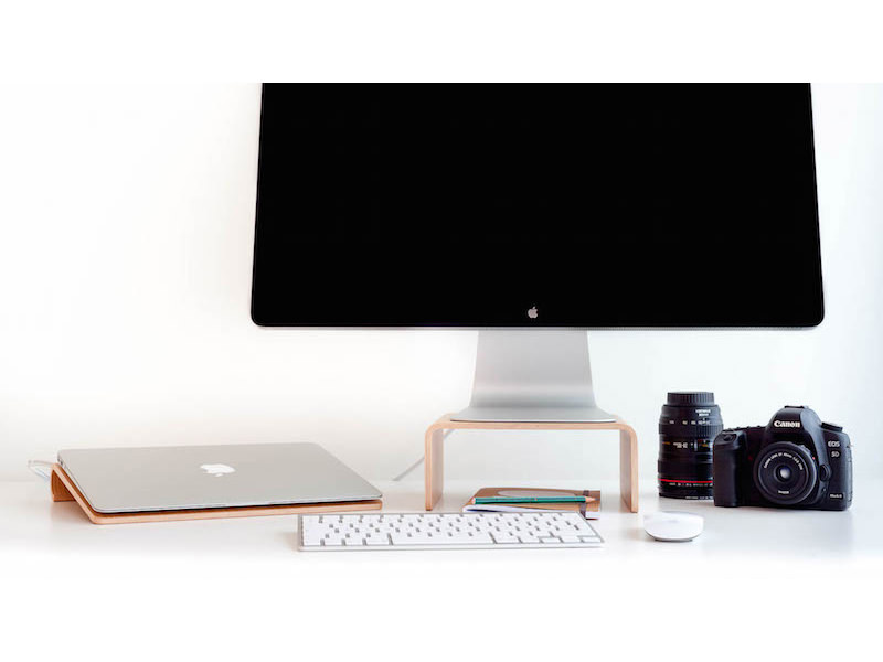 Nordic Appeal Desk Accessories In Wood Macbook Stand