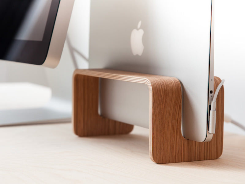 Nordic Appeal desk accessories in wood - iMac and Display stand