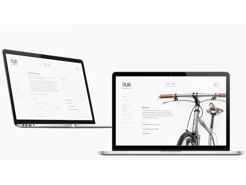 Alicia Gomez - Branding and Web Design for Nua Bikes, Barcelona, Spain