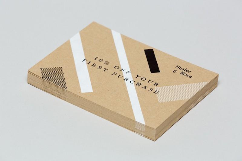 Delivered By Post - Branding for Husler and Rose