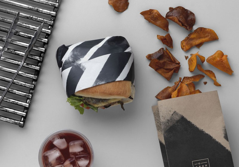 End of Work - Branding for Iron Grill in Optus Campus, Sydney