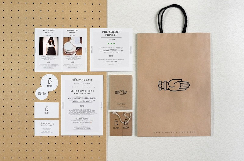 Say What Studio - Branding for Democratie concept store
