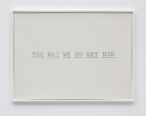 'The Way We Do Art after John Baldessari' by Pavel Büchler, 2010 – 2015 Watercolour on paper 76 x 56cm (29.9 x 22in.)