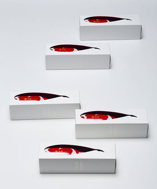 Aya Codama from Bullet Inc - Nishikigoi packaging for Imayotsukasa Sake Brewery