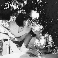 Lee Miller - Portrait of Man Ray and his lover, model and muse Ady Fidelin in Mougins, France, 1937