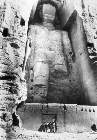 French archeologist Joseph Hackin exploring The Buddhas of Bamiyan, Afghanistan, 1931